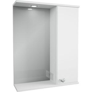 Зеркало-шкаф Меркана Астурия 58 с подсветкой, белый (2-037-000-R-S)