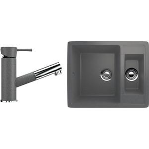 Кухонная мойка и смеситель Ulgran U-106 темно-серый кухонная мойка и смеситель ulgran u 106 темно серый