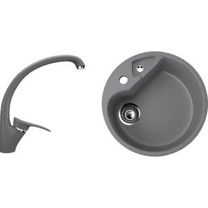 Кухонная мойка и смеситель Ulgran U-108 темно-серый оснастка рыболовная agp заводные кольца серый темно серый серебристый