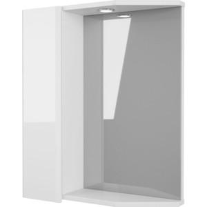 Зеркало-шкаф Меркана Болония 55 с подсветкой, белый (2-212-000-L-S)