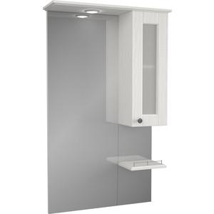 Зеркало-шкаф Меркана Гент 60 с подсветкой, белый (2-201-032-S)