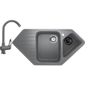 все цены на Кухонная мойка и смеситель Ulgran U-409 темно-серый онлайн