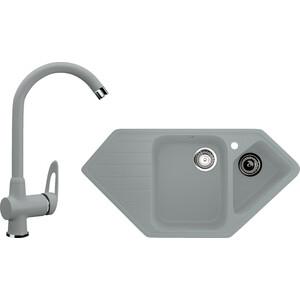 Кухонная мойка и смеситель Ulgran U-409 графитовый кухонная мойка и смеситель ulgran u 101 графитовый