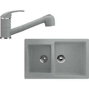 Кухонная мойка и смеситель Ulgran U-505 графитовый кухонная мойка и смеситель ulgran u 101 графитовый
