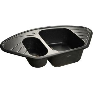 Кухонная мойка GranFest Corner GF-C960E черная granfest гранит угловая 960x510 gf c960e черная
