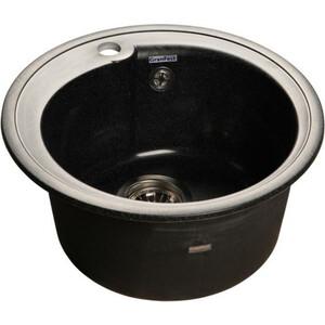 Кухонная мойка GranFest Rondo GF-R450 черная кухонная мойка granfest rondo gf r450 sand