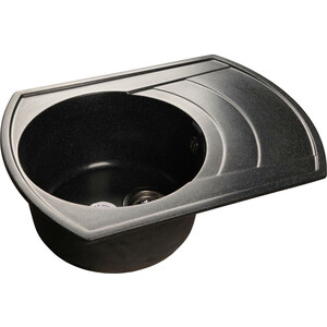 все цены на Кухонная мойка GranFest Rondo GF-R650L черная онлайн