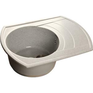 Кухонная мойка GranFest Rondo GF-R650L серая мойка кухонная granfest гранит 650x500 чаша крыло gf r650l песок