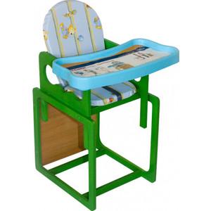 Стульчик для кормления Globex Мишутка зеленый 1403/05 цены онлайн