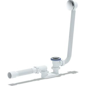 Слив-перелив для ванны АНИ пласт плоский Клик-клак с гибкой трубой (сетка) (EC055S)