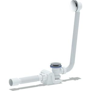 Слив-перелив для ванны АНИ пласт Бриг Клик-клак с гибкой трубой (грибок-сетка) (EC655GS)