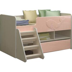 цена Детская кровать Регион 58 Юниор-3 МДФ розовый 70x140 онлайн в 2017 году