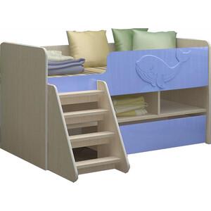Детская кровать Регион 58 Юниор-3 МДФ голубой 70x140 на авто 202 регион
