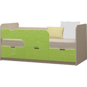 Детская кровать Регион 58 Юниор-9 салатовый 80x160 на авто 202 регион