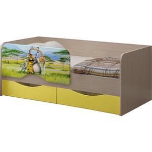 Детская кровать Регион 58 Юниор-12 МДФ Мадагаскар 80x160 на авто 202 регион