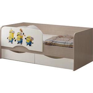 цена Детская кровать Регион 58 Юниор-12 МДФ Миньоны 80x160 онлайн в 2017 году