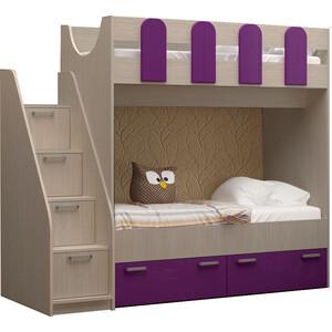 Детская двухъярусная кровать Регион 58 Бемби-11 на авто 202 регион