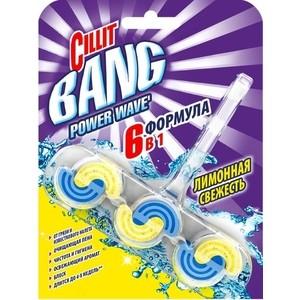 Туалетный блок Cillit BANG Лимонная свежесть Power Waves 39 г