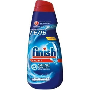 Гель для посудомоечной машины (ПММ) Finish All in 1 Shine&Protect 1 л цена 2017