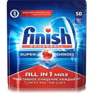 Таблетки для посудомоечной машины (ПММ) Finish All in1 Max 50 шт таблетки для пмм finish quantum max лимон 54 шт