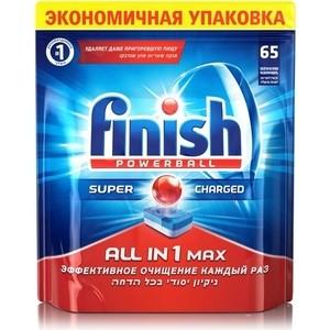 Таблетки для посудомоечной машины (ПММ) Finish All in1 Max 65 шт таблетки для посудомоечной машины пмм finish quantum max анти жир 54 шт