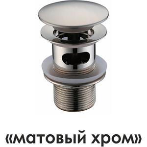 Донный клапан Wasserkraft Push-up хром матовый (A073)