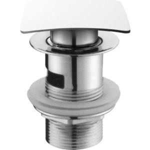 Донный клапан Cezares Click-clack с квадратной крышкой, хром (CZR-SCQ-01)