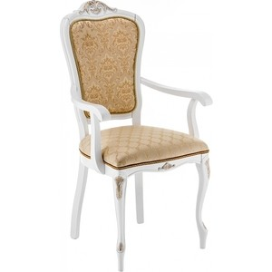 Кресло Woodville Руджеро патина золото/бежевый