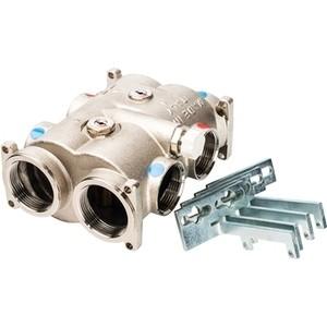 Коллектор LUXOR CD 1210 1 1/2 x 1/4 модульный с соединениями для групп G1 1/4, клапаном байпаса и балансировочными клапанами (68744251)
