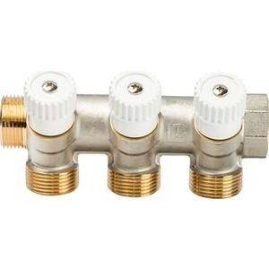Коллектор LUXOR CP 453 (G3/4xG3/4 EK) на 3 выхода с перекрывающими кранами для медной и пластиковой трубы (68512803)