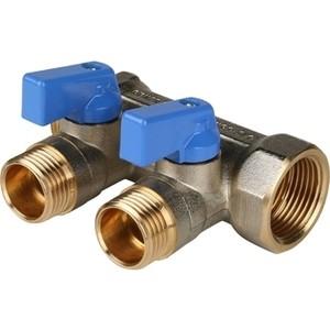 Коллектор STOUT с шаровыми кранами 3/4 на 2 выхода 1/2 (синие ручки) (SMB 6201 341202) stout дифференциальный клапан балансирования by pass g 3 4 4 соединение 0 2 2 5