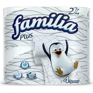 Туалетная бумага FAMILIA PLUS Белая 2 слоя 4 рулона