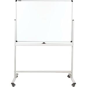 Доска магнитно-маркерная стеклянная BRAUBERG PREMIUM 2-сторонняя, 90х120 см, на стенде, 236851