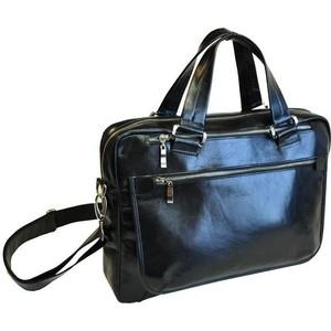 Фото - Сумка Grand мужская кожаная черная 01-357-0813 fendi черная кожаная сумка с логотипом