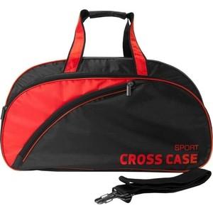 Сумка спортивная Cross Case нейлон чёрная, красная отделка CCS-1039-01