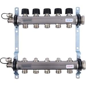 Коллекторная группа UPONOR SMART S с клапанами стальной 1х3/4 евроконус на 5 выходов (1088048)