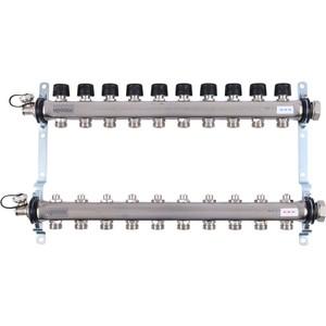 Коллекторная группа UPONOR SMART S с клапанами стальной 1х3/4 евроконус на 10 выходов (1088053)