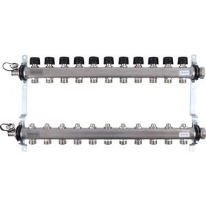 Коллекторная группа UPONOR SMART S с клапанами стальной 1х3/4 евроконус на 11 выходов (1088054)