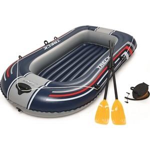 Надувная лодка Bestway 61083 BW Hydro-Force Raft Set 228х121 см (с вёслами и насосом) байдарка надувная intex challenger к1 с насосом и веслами цвет зеленый серый черный 274 х 76 х 38 см