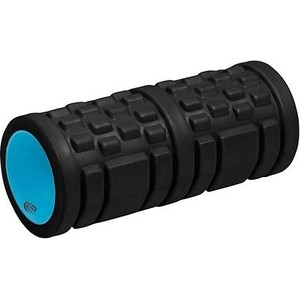 Ролик для пилатеса Lite Weights 6500LW массажный 33х14см (черный/голубой)