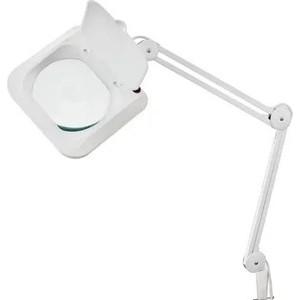 Настольная лампа REXANT Лампа-лупа на струбцине квадратная 5D с крышкой белая