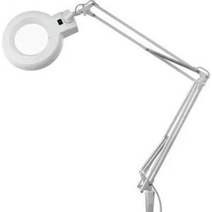 Настольная лампа REXANT Лампа-лупа на струбцине квадратная 5D белая