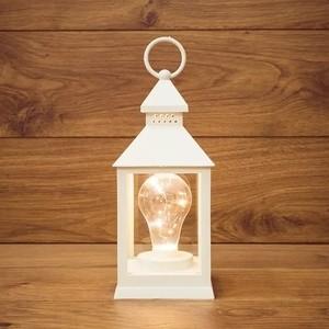 Neon-Night Декоративный фонарь с лампочкой белый