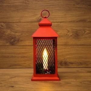Neon-Night Декоративный фонарь со свечкой красный