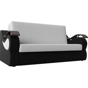 Прямой диван АртМебель Меркурий экокожа белый/черный (140) цена