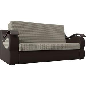 Прямой диван АртМебель Меркурий корфу 02 экокожа коричневый (160)