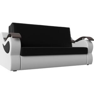 Прямой диван АртМебель Меркурий экокожа черный/белый (120)