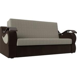 Прямой диван АртМебель Меркурий корфу 02 вельвет коричневый (100)