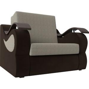 Прямой диван АртМебель Меркурий корфу 02 вельвет коричневый (80)