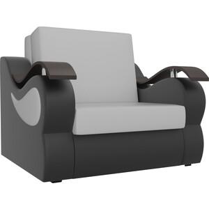 Прямой диван АртМебель Меркурий экокожа белый/черный (80)